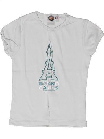 T-shirt manches courtes fille ROLAND GARROS blanc 4 ans été #1269960_1