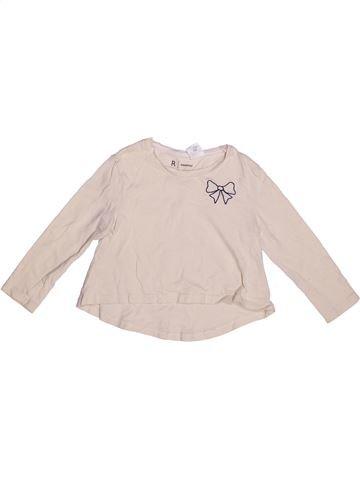 T-shirt manches longues fille LA REDOUTE CRÉATION violet 3 ans hiver #1269976_1
