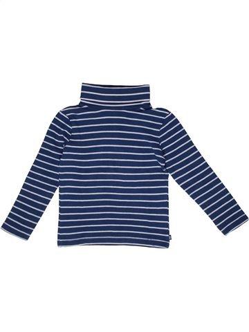 Camiseta de cuello alto niño OKAIDI azul 5 años invierno #1270079_1