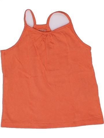 T-shirt sans manches fille VERTBAUDET orange 2 ans été #1270179_1