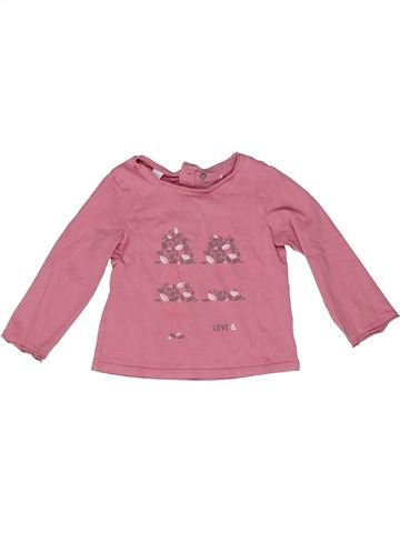 T-shirt manches longues fille OKAIDI rose 2 ans hiver #1270195_1