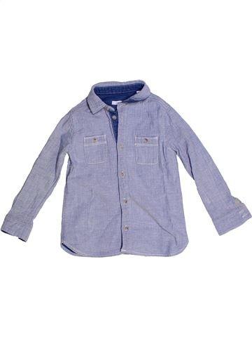 Camisa de manga larga niño OKAIDI violeta 4 años invierno #1270371_1