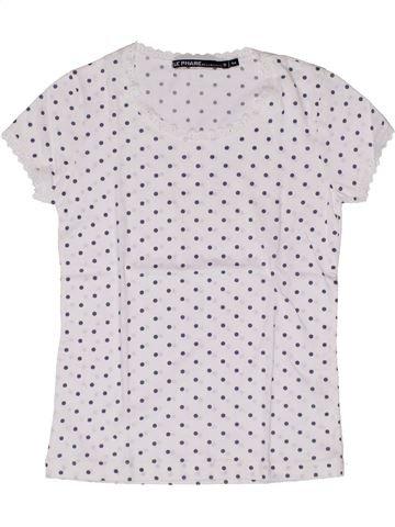 T-shirt manches courtes fille LE PHARE DE LA BALEINE blanc 6 ans été #1270431_1