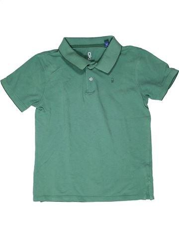 Polo manches courtes garçon OKAIDI vert 12 ans été #1270520_1