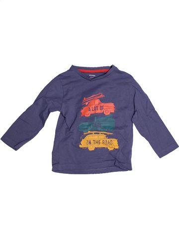 Camiseta de manga larga niño KIABI violeta 2 años invierno #1270578_1