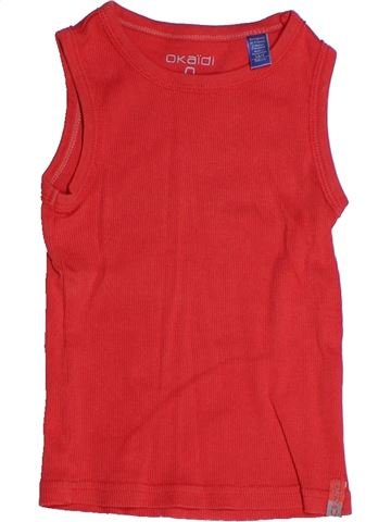 Top - Camiseta de tirantes niño OKAIDI rojo 3 años verano #1270628_1