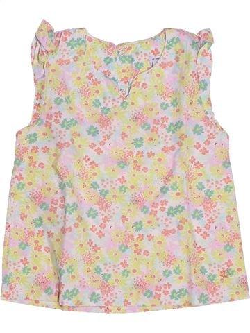 Blusa de manga corta niña PETIT BATEAU beige 5 años verano #1270693_1