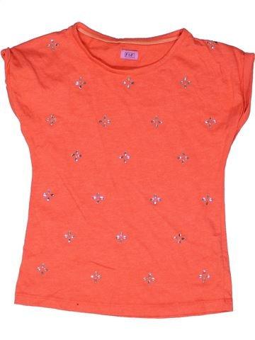 T-shirt manches courtes fille F&F rose 9 ans été #1270925_1