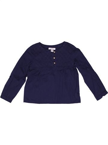 Blouse manches longues fille OKAIDI bleu 3 ans hiver #1270970_1