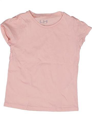 T-shirt manches courtes fille LH BY LA HALLE violet 6 ans été #1270972_1