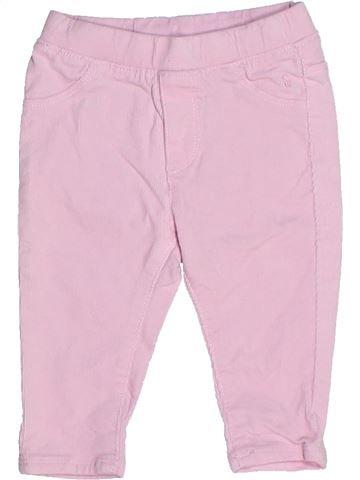 Pantalon fille OKAIDI rose 12 mois hiver #1271022_1