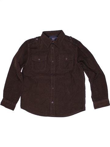 Chemise manches longues garçon CFK marron 8 ans hiver #1271242_1