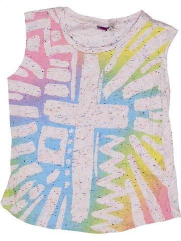 T-shirt sans manches fille RIVER ISLAND blanc 8 ans été #1271728_1