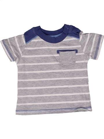 T-shirt manches courtes garçon GEORGE gris 3 mois été #1271875_1
