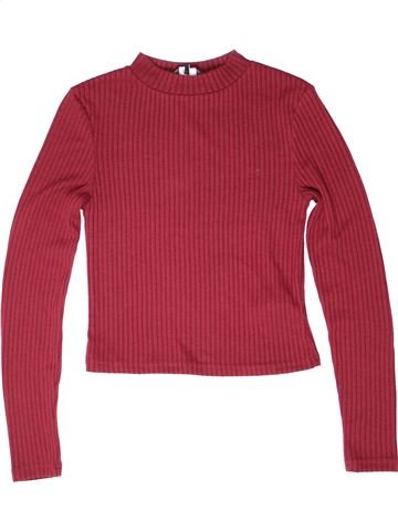 Pull fille NEW LOOK rouge 13 ans hiver #1272100_1