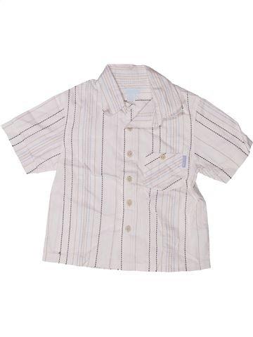 Chemise manches courtes garçon OKAIDI blanc 2 ans été #1272148_1