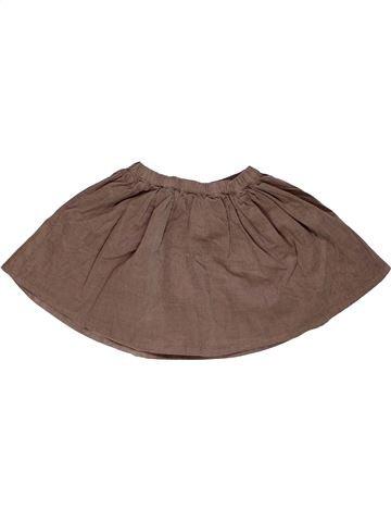 Falda niña MONOPRIX marrón 3 años invierno #1272155_1