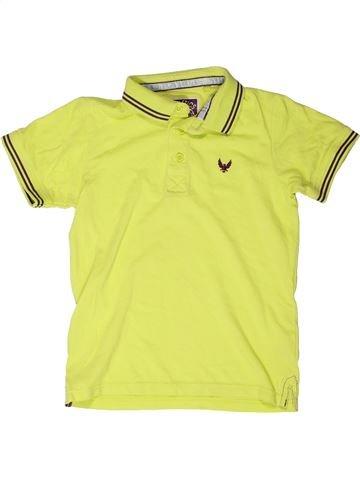Polo manches courtes garçon TU jaune 7 ans été #1272438_1