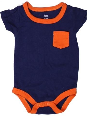 T-shirt manches courtes garçon YOGA SPROUT orange 3 mois été #1272514_1