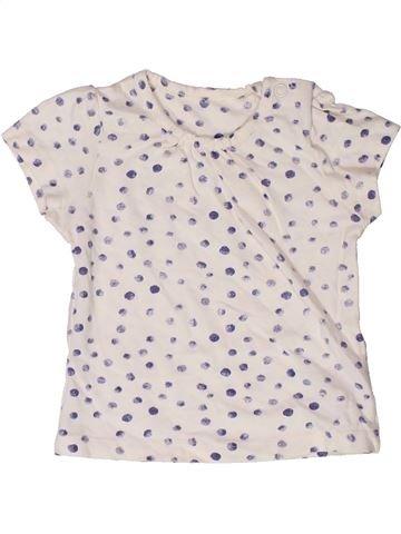 T-shirt manches courtes fille MOTHERCARE blanc 6 mois été #1272678_1