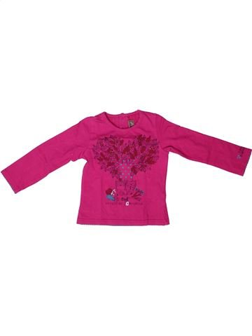 T-shirt manches longues fille JEAN BOURGET rose 2 ans hiver #1272734_1
