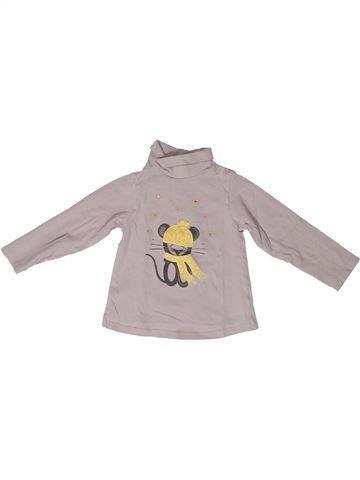 T-shirt col roulé fille OKAIDI gris 2 ans hiver #1272750_1