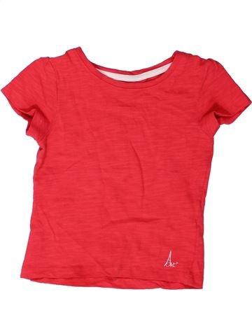 T-shirt manches courtes fille ORCHESTRA rouge 2 ans été #1272767_1