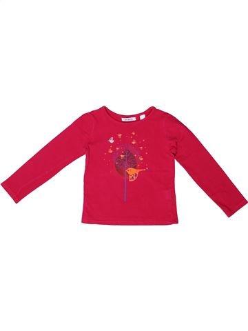 Camiseta de manga larga niña OKAIDI rojo 3 años invierno #1272811_1