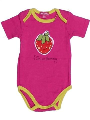 T-shirt manches courtes fille PIK OUIC rose 6 mois été #1272990_1