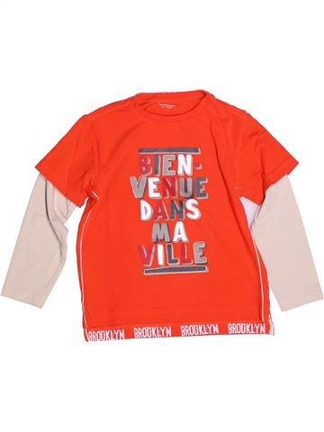 T-shirt manches longues garçon VERTBAUDET orange 6 ans hiver #1273079_1