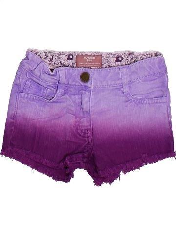 Short - Bermuda fille MANGO violet 4 ans été #1273250_1