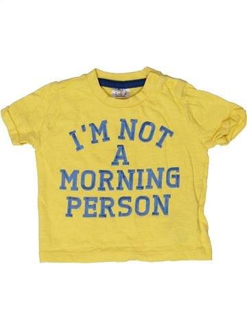 T-shirt manches courtes garçon F&F jaune 3 mois été #1273333_1