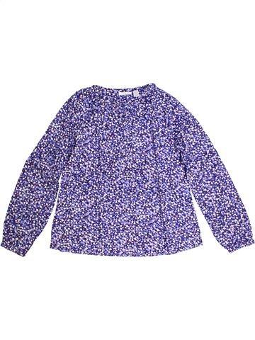 Blouse manches longues fille OKAIDI violet 12 ans hiver #1273344_1