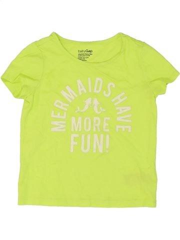 T-shirt manches courtes fille GAP vert 3 ans été #1273819_1