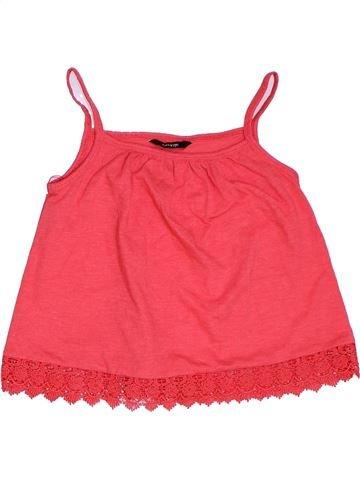T-shirt sans manches fille GEORGE rose 7 ans été #1275198_1