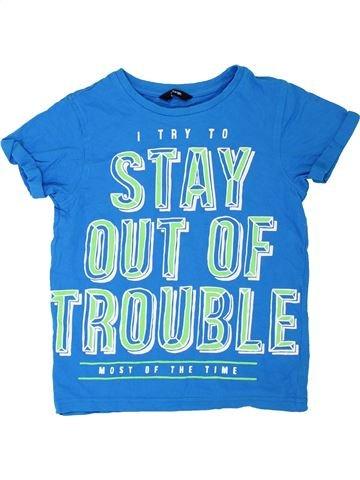 T-shirt manches courtes garçon GEORGE bleu 8 ans été #1275804_1