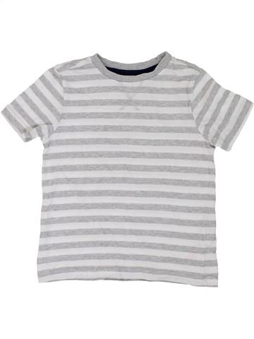 T-shirt manches courtes garçon F&F blanc 5 ans été #1275807_1