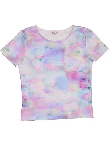 Camiseta de manga corta niña RIVER ISLAND blanco 10 años verano #1276015_1