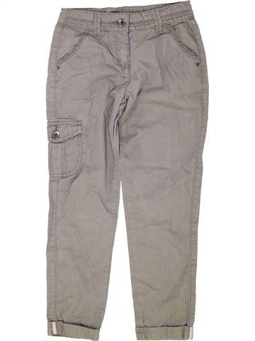 Pantalon fille GEORGE gris 9 ans été #1276199_1