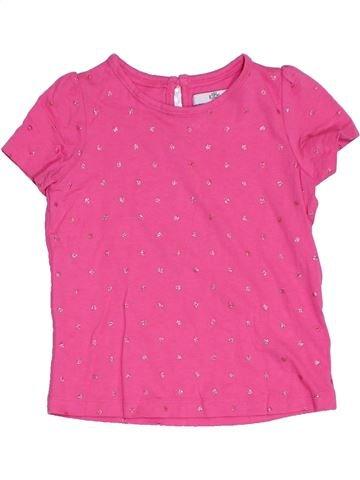 Camiseta de manga corta niña MARKS & SPENCER rosa 3 años verano #1276276_1