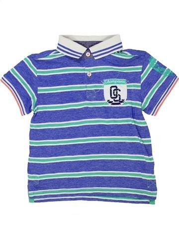 Polo manches courtes garçon CAMPUS violet 6 ans été #1276834_1