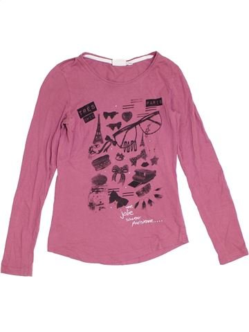 T-shirt manches longues fille TOM TAILOR rose 14 ans hiver #1277754_1