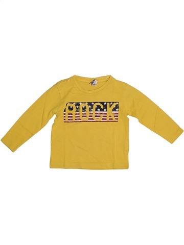 T-shirt manches longues garçon TAPE À L'OEIL jaune 2 ans hiver #1278383_1