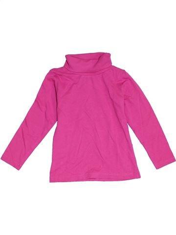 Camiseta de cuello alto niña LUPILU rosa 3 años invierno #1280355_1