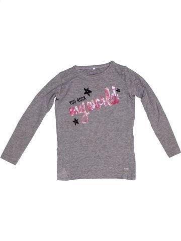 T-shirt manches longues fille NAME IT gris 6 ans hiver #1281755_1
