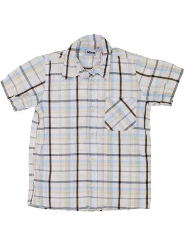 Chemise manches courtes garçon ALIVE blanc 6 ans été #1283754_1