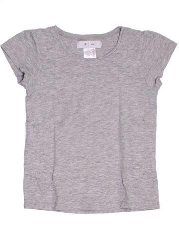 Camiseta de manga corta niña LA REDOUTE CRÉATION gris 4 años verano #1284778_1