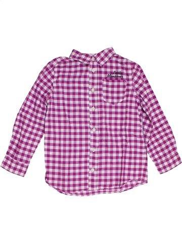 Chemise manches longues garçon TAPE À L'OEIL violet 6 ans hiver #1284917_1