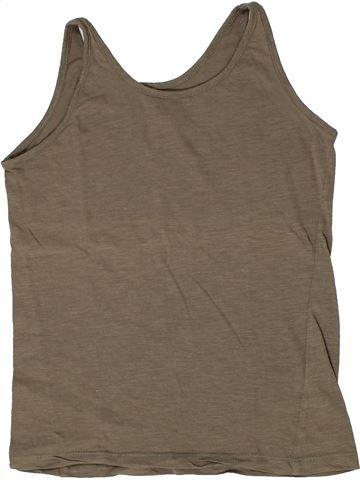 T-shirt sans manches fille GEMO marron 12 ans été #1284983_1