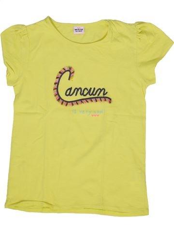 T-shirt manches courtes fille TAPE À L'OEIL jaune 10 ans été #1285358_1